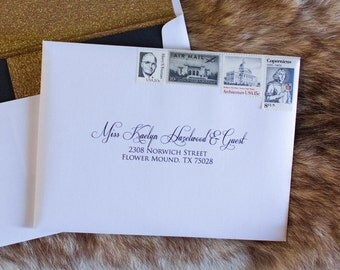 5x7 (Other Sizes & Colors Available) Black and White Wedding Calligraphy Address Envelope Printing, ENVELOPES INCLUDED