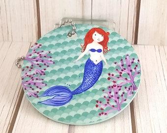 Mermaid Rear View Mirror Hanger | Mermaid Kisses & Starfish Wishes | Fun Car Hanger | Six Mermaid Colors