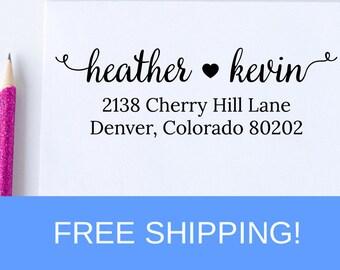 Custom Address Stamp, Return Address Stamp, Self Inking Address Stamp, Christmas Gift, Housewarming Gift  (D304)