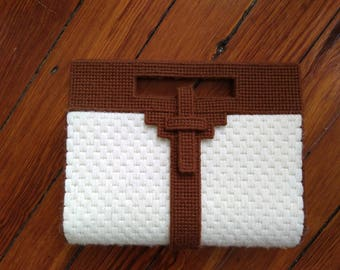 Stitched Canvas Clutch Bag