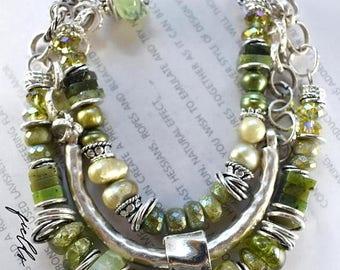 bracelet, vesuviniate bracelet, bangle bracelet, green bracelet, peridot bracelet, bohemian bracelet, boho bracelet, summer trends, green