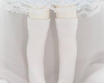 Plain Knee-High Socks for LATI Yellow