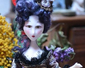 Marquise baroque tatouée - doll han made