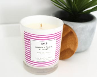 Coconut Wax Candle - No3 Watermelon & Mint