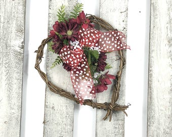 Valentine's Day Wreath, Valentine Wreath, Valentine Day Decor, Heart Wreath, Heart Decor, Heart, Wreath For Valentines Day, Valentines Decor