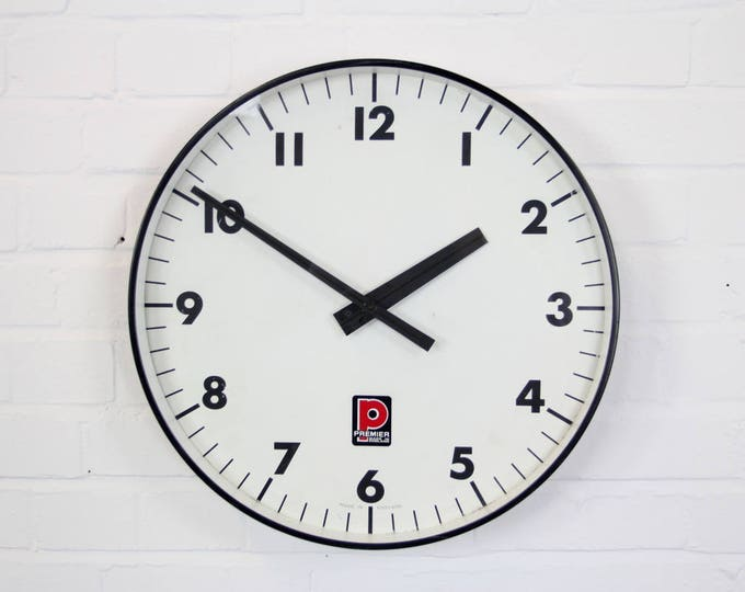 Premier Drums Factory Clock By Gents Of Leicester Circa 1960s