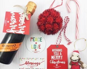 Holiday Gift Tags - 5 Designs- PRINTABLE PDF