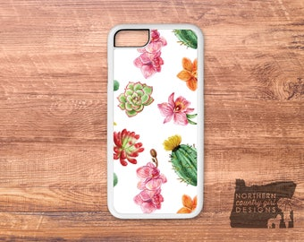 succulent phone case / succulent / cactus phone case / iPhone 7 case / iPhone 6 case / iPhone case / iPhone 7 plus case / cactus /phone case