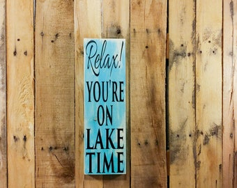 Lake House Decor - Lake House Sign - Lake House - Lake Decor - Lake House Gift - Rustic Home Decor - Rustic Wall Decor - Custom Wood Signs