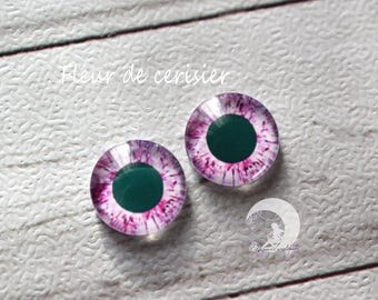 Eyechips for Pullip and Yeolume glass - size 12mm - cherry blossom - NEW!