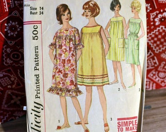 1950's Beach Dress or Muu Muu Pattern