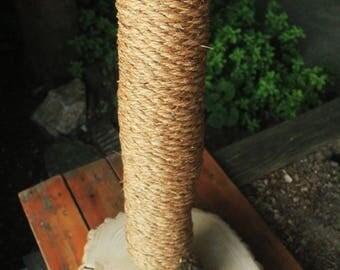 Handmade & Organic Tree-Limb Cat Scratching Post - Cat Scratcher - Rustic Cat Furniture