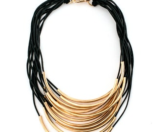 Gold Rock & Roll Statement Necklace