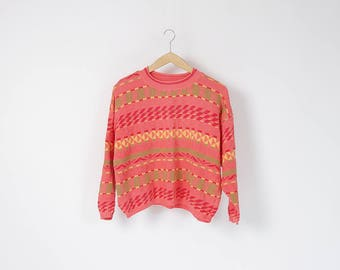 80s United Colors of Benetton rad boxy cotton knit crop sweater made in Italy / size M-L