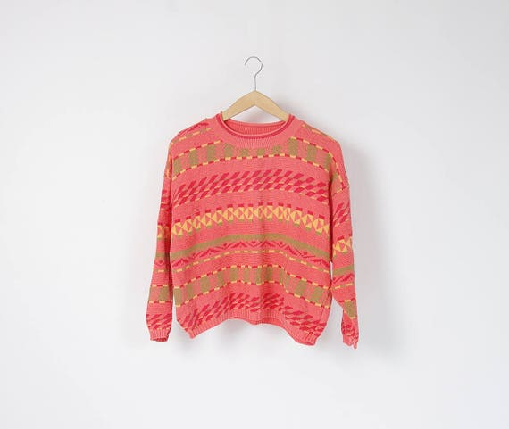 SALE - 80s Benetton boxy cotton knit made in Italy / size S-M