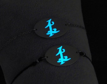 Parabatai Friendship Bracelet, Glow in the Dark, Parabatai Rune, Runes, Gift for her, Couple Gift, Fandom, Malec, Jace Alec Parabatai