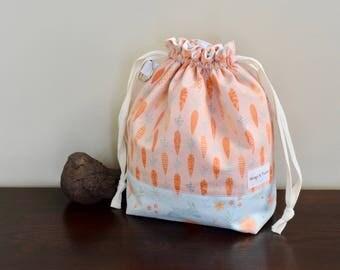 Spring knitting crochet drawstring project bag
