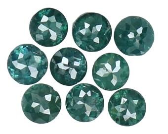 0.42 Ct Natural Loose Diamond Round Rose Cut Blue Color 9 Pcs L8993