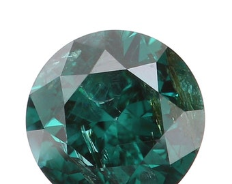 3.96 MM 0.27 Ct Natural Loose Diamond Cut Round Shape Blue Color I2 Clarity L3281