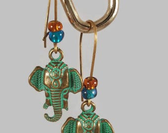 Elephant Earrings - Boho Jewelry - Tribal Earrings - Elephant Jewelry - Bohemian Earrings