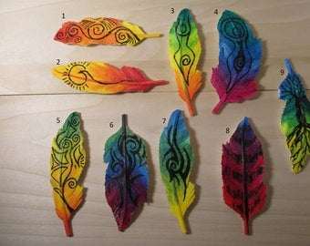 Resin Feather Pins