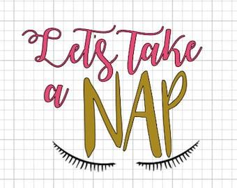 Let's take a nap vinyl decal