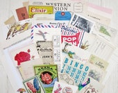 Vintage Paper Ephemera Pack of 50+ Pieces for Planners, Mixed Media, Altered Art or Scrapbooking