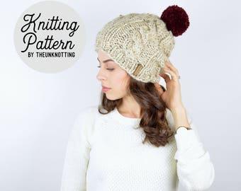 PATTERN // The Newport Hat // Chunky Knit Beanie Pattern