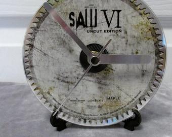 Saw VI DVD Clock Upycled Horror Movie