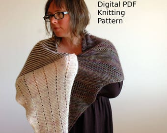 With the Flow Shawl Knitting Pattern / Digital PDF Download / Shawl Pattern / Knitting Pattern / Scarf / Wrap / Knit