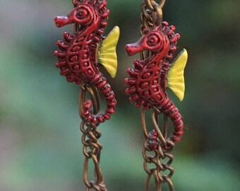 Sea Horse Dangling Earrings