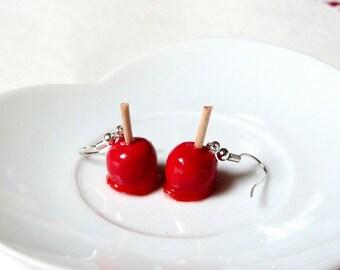 Gourmet candy Apple earrings