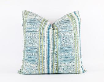 Hmong Tribal Batik Print Textile Pillow Cover 20x20