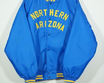 Vintage 90s Northern Arizona Satin Baseball Jacket Size XXlarge / Arizona Jacket / Satin Jacket / Starter Jacket