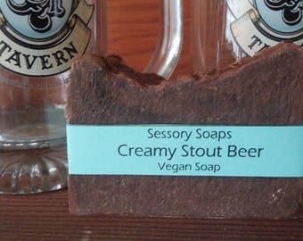 Creamy Stout Beer Shea Butter Vegan Soap