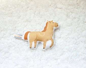 Organic Horse Rattle / Pillow - Baby Toy / Baby Gift / Teething Toy / Plushie / Stuffed Animal / Organic Baby Toy