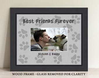 Personalized Dog Picture Frame, Pet Lover Gift, Dog Lover Gift, Best Friends Furever