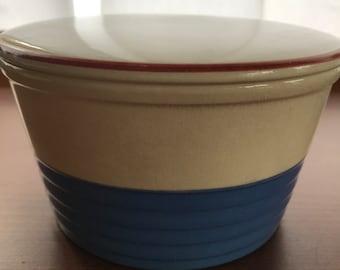 Vintage Potterage Cambridge, Ohio Bowl With Lid