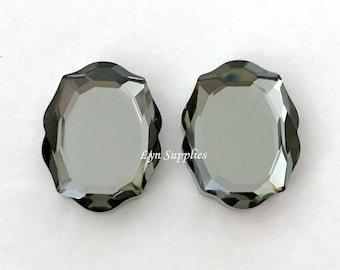 4142 SILVER NIGHT 18x14mm Swarovski Crystal Baroque Mirror Fancy Stone, Swarovski Spring/Summer 2018