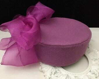 RESERVED Wool Pillbox Hat