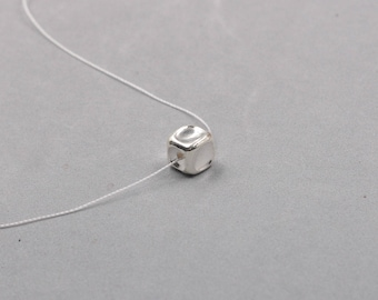 9mm Sterling Silver Cube Beads -- 925 Silver Charms Wholesale For Bridesmaid Gift Party XXSP-S0334