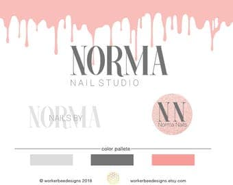 Nail Shop Logo Design   Nail Salon   Premade Logo Design  Nail Salon Logo  Design