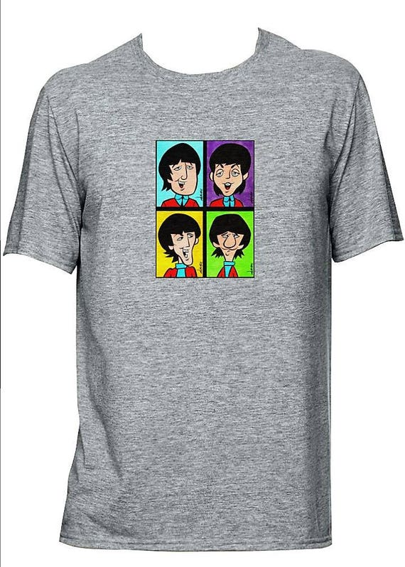 the beatles cartoon t shirt