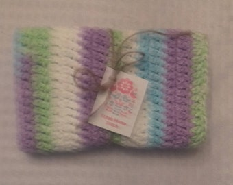 100 Percent Cotton Cloth - Crocheted Wash Cloth - Crocheted Cloth - Baby Cloth - Spa Cloth - Dish Cloth - Ready to Ship