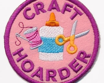 Craft Hoarder patch Sew on Patch applicae patches for jackets sweatshirts denim bags mini patches patches for jeans