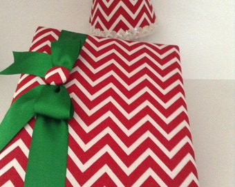 NEW OFFERING!  Red Chevron Photo Album with Matching Decorative Nightlight!  Photo Album Holds 240 4x6 Photos
