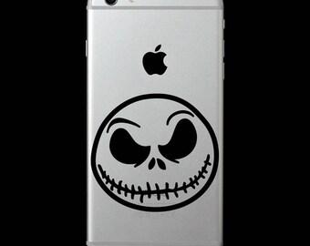 Jack Skellington Nightmare Christmas Vinyl Decal/iphone skin/cell phone sticker/laptop/macbook/yeti tumbler/car/tablet/iPad/Surface/locker