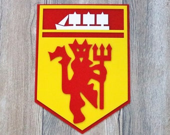Manchester United Inspired Tribute laser cut multi layered acrylic tribute wall hanging sign