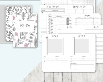 TN A6 Size: Health and Fitness Planner, Printable Travelers Notebook Insert, A6 Tn, Meal Planner, Weight Loss, Weight Tracker -ClassicSeries