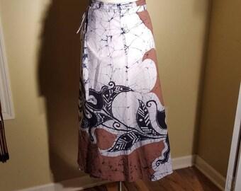 Vintage tie dye wrap skirt